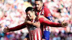 Álvaro Morata celebra un gol con Koke (@AlvaroMorata)