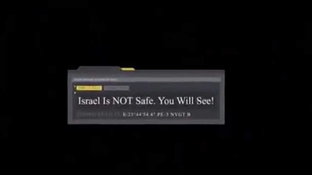 El mensaje que aparecía en el vídeo visto en 'Eurovisión'. (Times)