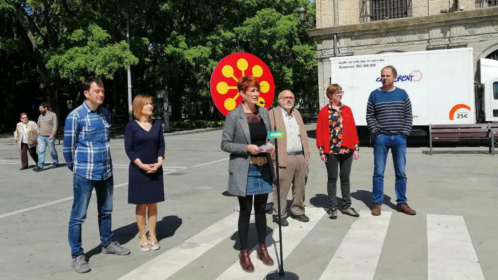 La candidata de EH Bildu a la Presidencia del Gobierno de Navarra, Bakartxo Ruiz.
