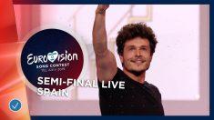 Miki canta 'La venda' en la primera semifinal de Eurovisión 2019.