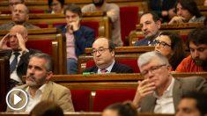Miquel Iceta, cariocontecido tras perder la votación para ser designado senador.