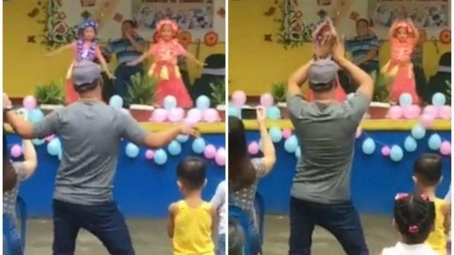 Un papá baila con su hija y triunfa en Facebook