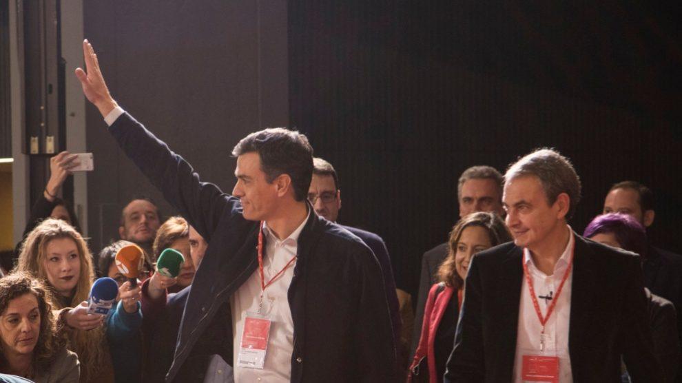 Pedro Sánchez y José Luis Rodríguez Zapatero.