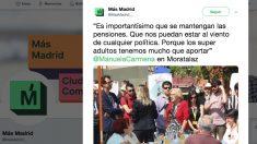 Uno de los tuits de Más Madrid.