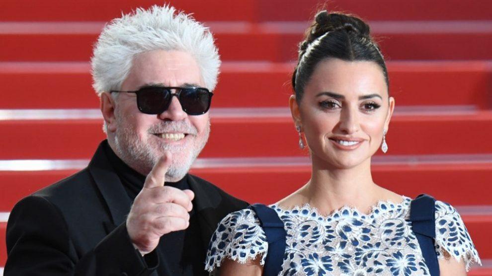 Pedro Almodóvar y Penélope Cruz en Cannes. Foto @ AFP