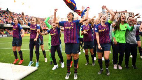 El Barcelona celebra su pase a la final. (Getty)