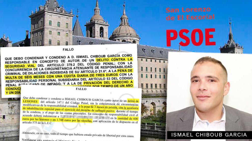 Ismael Chiboub Garcia, candidato socialista, condenado por pegarle una paliza a un menor y conducir ebrio