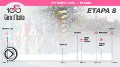 Etapa 8 del Giro de Italia 2019, hoy viernes 18 de mayo.