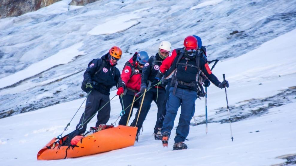 Rescate del cadáver momificado en Los Andes @EFE