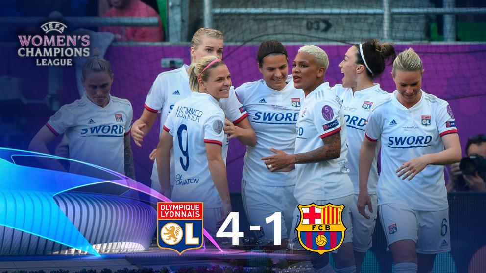 El Lyon gana al Barcelona y se proclama campeón de la Champions League femenina. (AFP)