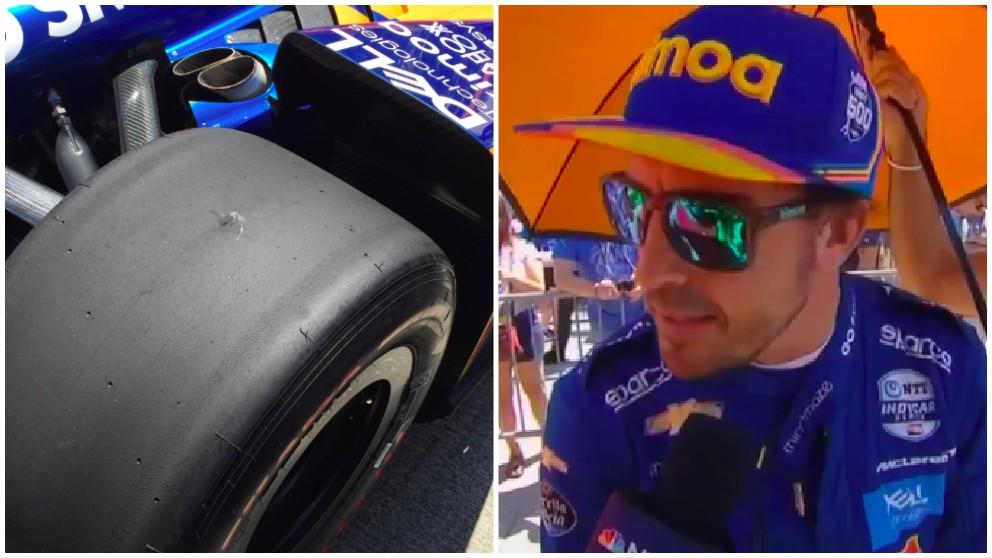Fernando Alonso rodó con una rueda pinchada a 370 km/h.