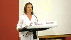 Cuca Gamarra en un acto en el Ayuntamiento de Logroño (Foto: Europa Press).