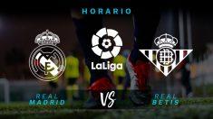 Horario: Real Madrid – Betis, jornada 38 de la Liga.