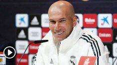 Zidane, en rueda de prensa. (Realmadrid.com)