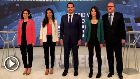 Debate electoral en Telemadrid. (Foto. EFE)