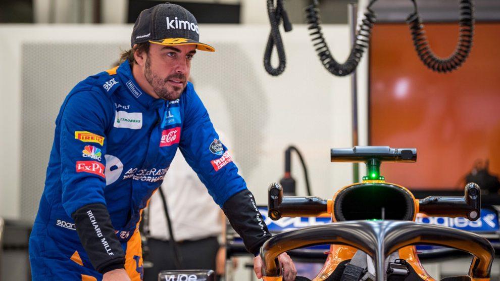Fernando Alonso, en su última temporada en la Fórmula 1. (AFP)