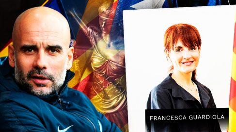 El ex entrenador del Barça Pep Guardiola y su hermana, Francesca Guardiola, «embajadora» de la Generalitat en Dinamarca.