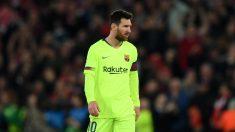 Messi, durante un partido del Barcelona