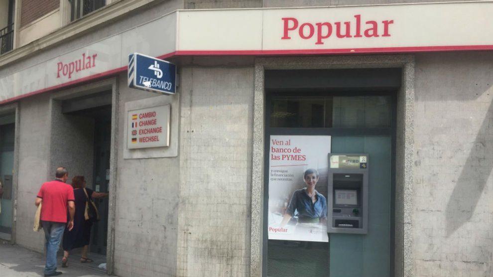 Oficinas de Banco Popular (Foto: EP / Archivo)