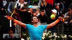 Rafael Nadal celebra la victoria. (Getty)