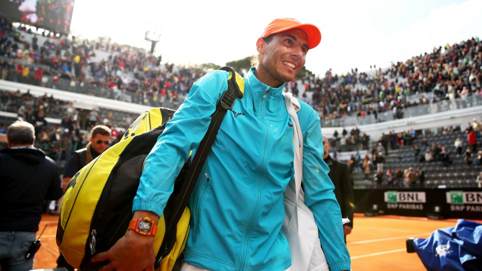 Rafael Nadal, en el Masters 1000 de Roma. (Getty)