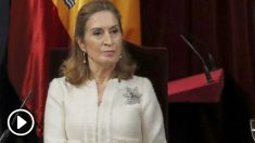 Ana Pastor en el Congreso de los Diputados en el acto de homenaje a la Constitución.