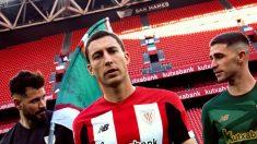 Óscar de Marcos, protagonista en la presentación de las nuevas equipaciones del Athletic (Athletic Club)