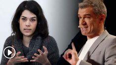 La candidata de Podemos a la Comunidad de Madrid, Isabel Serra y el diputado de Ciudadanos en las Cortes Valencias, Toni Cantó