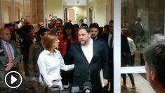 Oriol Junqueras llega al Congreso de los Diputados
