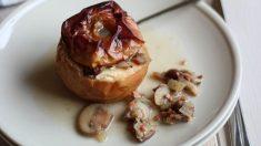 Receta de manzanas rellenas de carne con almendras