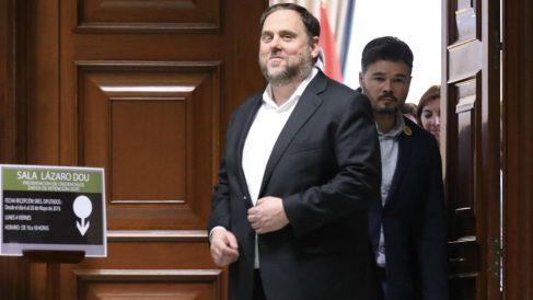 Oriol Junqueras. en el Congreso.