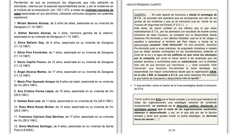 Un nuevo informe policial permitirá juzgar a Ternera por los atentados contra las casas cuartel