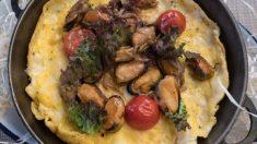 Receta de tortilla de mejillones