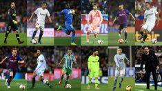 La UEFA publica su once ideal de la Liga Santander.