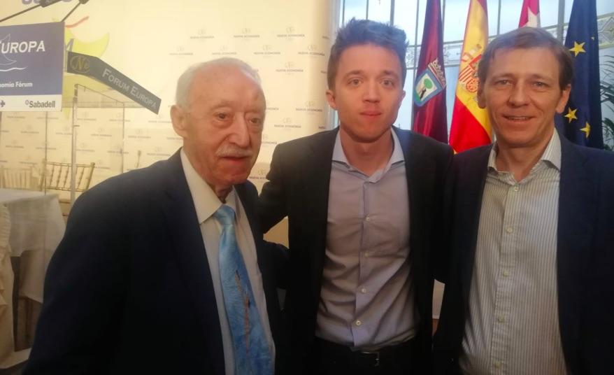 Manuel Pardos, Íñigo Errejón y Fernando Herrero.