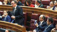 Los diputados independentistas en prisión, en el Congreso.
