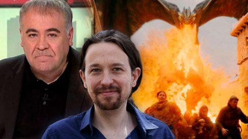 Pablo Iglesias compara a Antonio Ferreras con el dragón Drogon de Juego de Tronos.