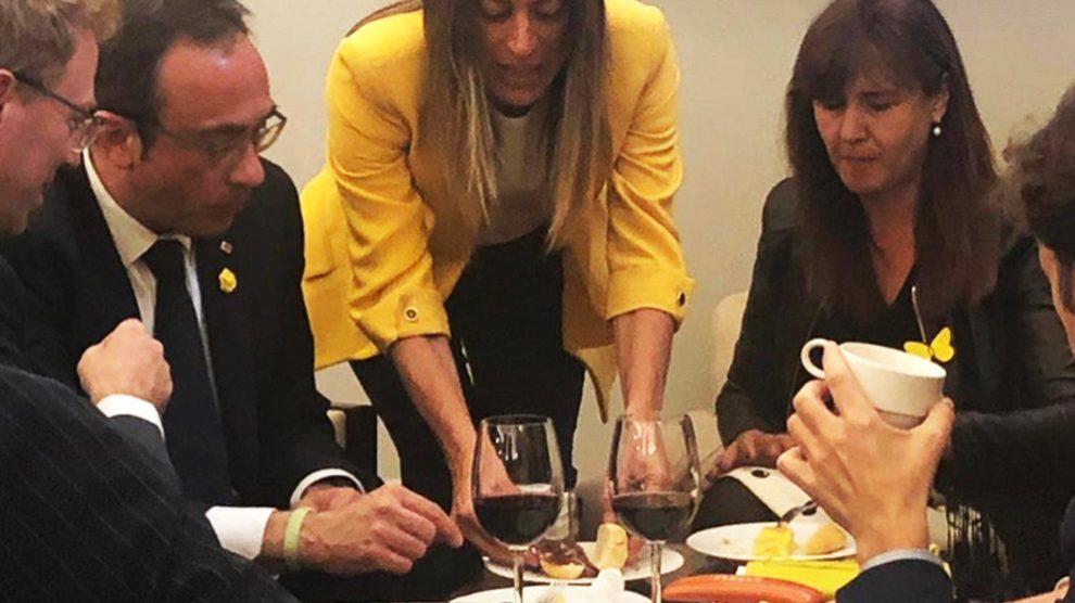 Josep Rull y Laura Borras en el Congreso @Twitter