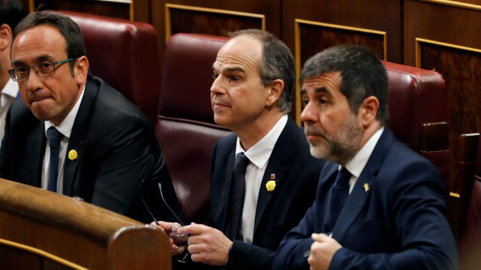 Los diputados suspendidos de Junts, en el Congreso.