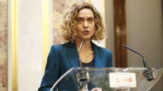 Merixell Batet en su primera rueda de prensa tras ser elegida presidenta del Congreso.