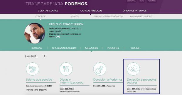 Podemos rabia contra las donaciones de Amancio Ortega mientras oculta a qué destinan las suyas