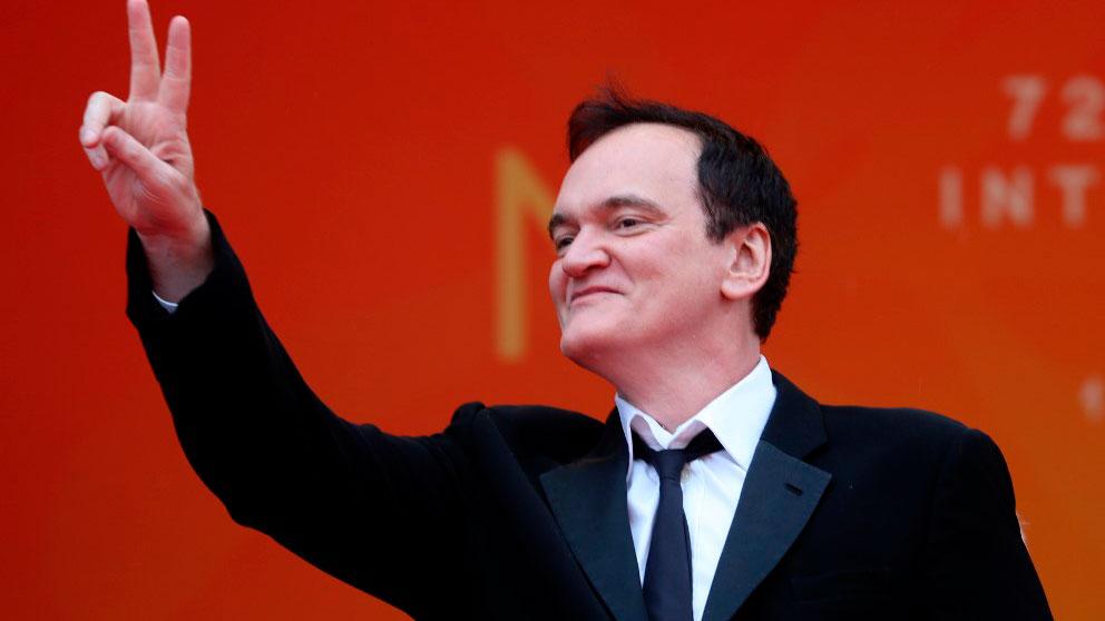 Quentin Tarantinoa su llegada al Festival de Cine de Cannes, donde este martes presenta su última película. Foto: AFP