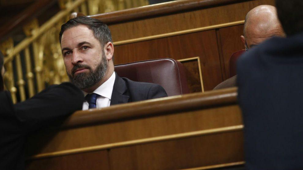 Santiago Abascal en el Congreso. Foto: Europa Press