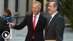 Los senadores socialistas Ander Gil y Manuel Cruz