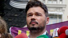 El portavoz de ERC en el Congreso, Gabriel Rufián (Foto: ENRIQUE FALCÓN).