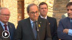 torra reclama a Batet que no se suspenda a los diputados presos
