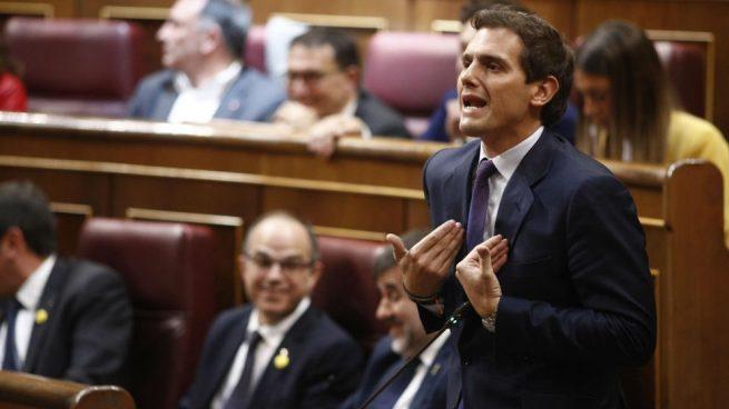 Rivera no cree que Oriol Junqueras deba ser eurodiputado y «cobrar dinero público» como defiende la Abogacía