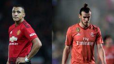 Alexis y Bale, con el United y el Real Madrid.