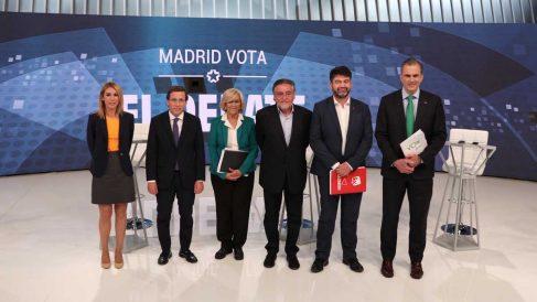 Candidatos al Ayuntamiento de Madrid. Foto: Europa Press.