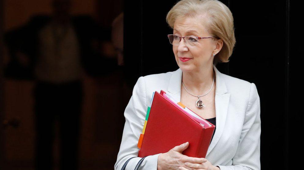 Andrea Leadsom, ministra británica encargada de relaciones con el Parlamento británico @Getty